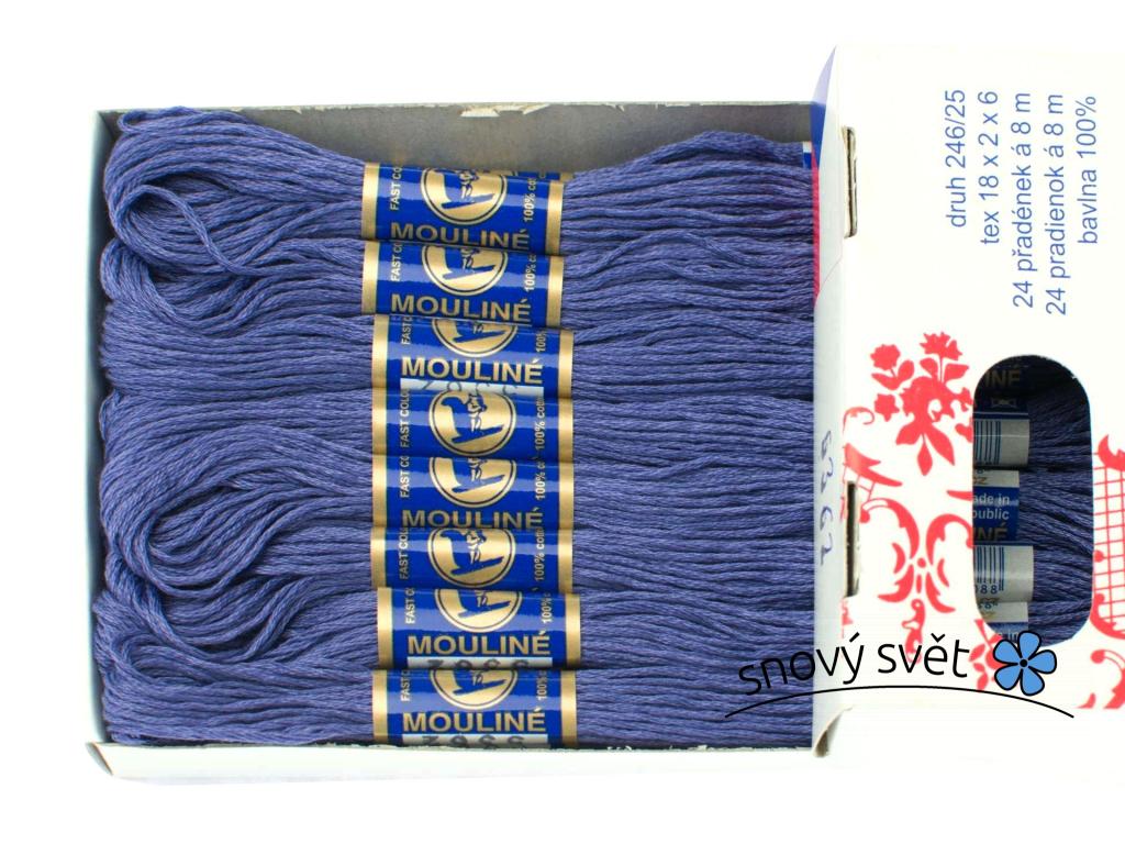 Bavlněná vyšívací příze Mouline tmavá modrofialová (5362) - CT0034