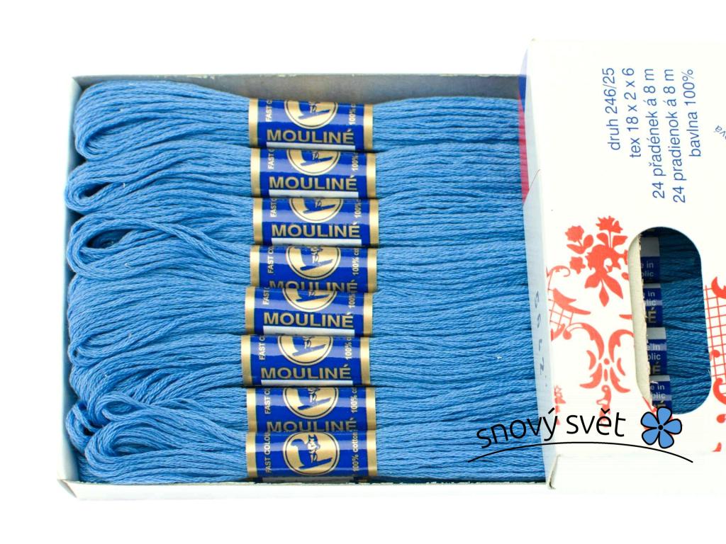 Bavlněná vyšívací příze Mouline kalifornská modrá (5642) - CT0041