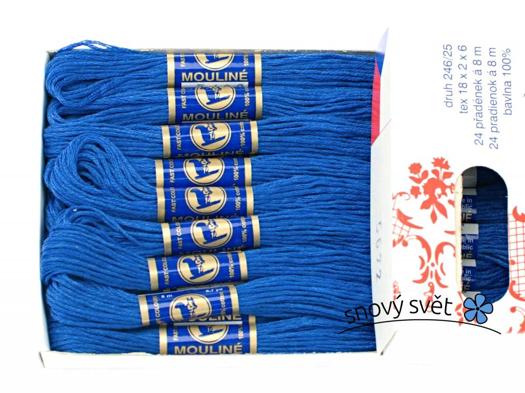 Bavlněná vyšívací příze Mouline modrá (5672) - CT0042