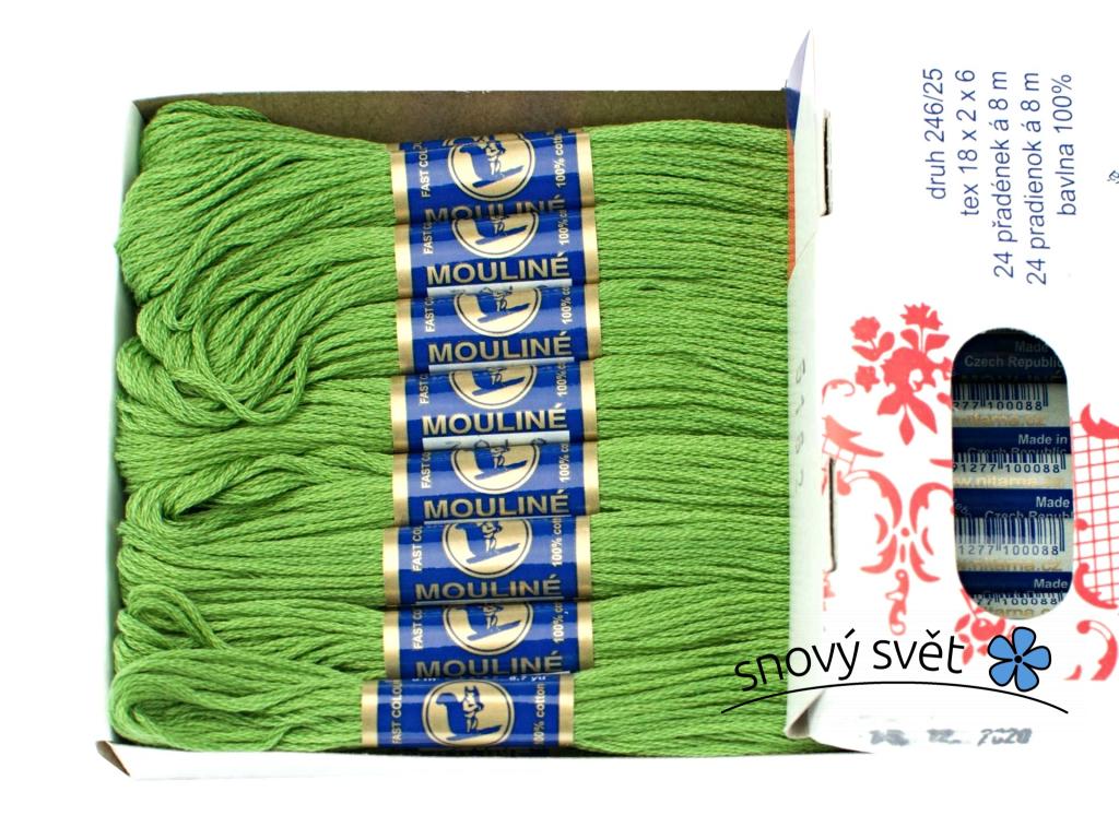 Bavlněná vyšívací příze Mouline artyčok zeleň (6162) - CT0048