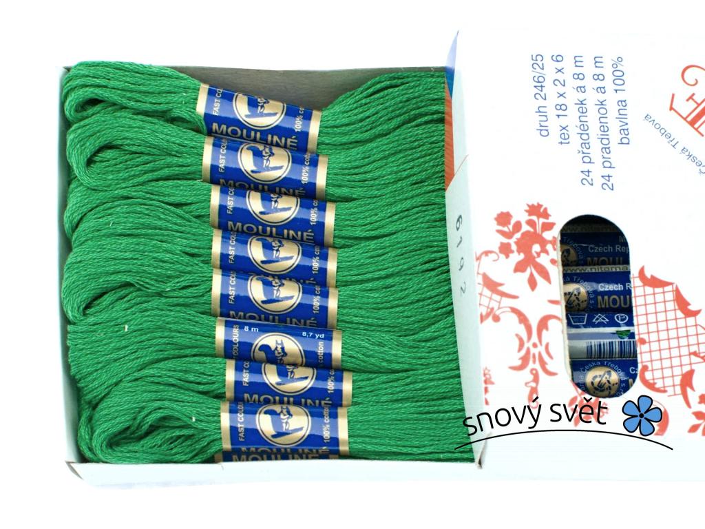 Bavlněná vyšívací příze Mouline zelená (6192) - CT0050