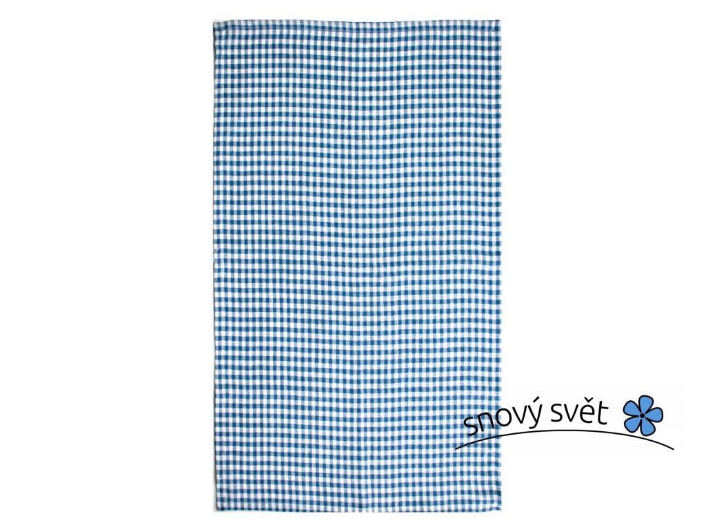 Lněná utěrka Dara tmavě modrá - SS0259