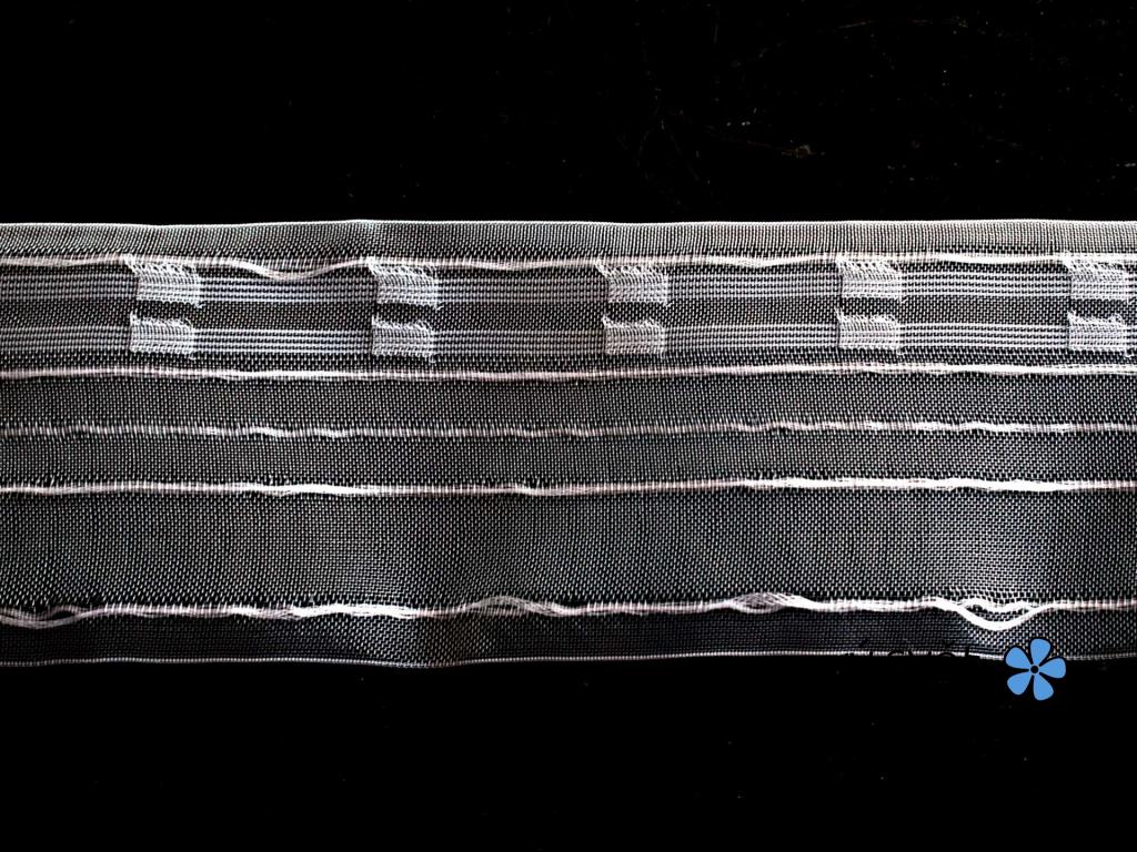 Záclonovka - tužkové řasení, transparentní, 80 mm - VT0047
