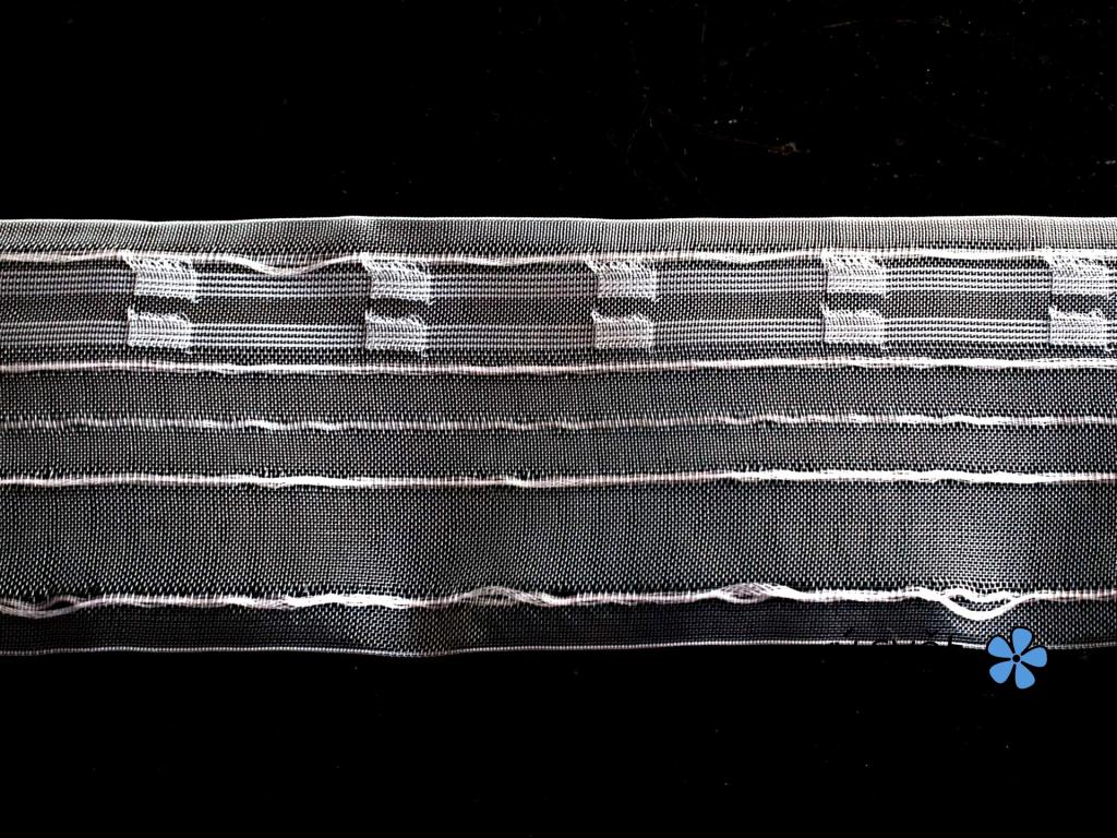 Záclonovka - žabkové řasení, transparentní, 80 mm - VT0048