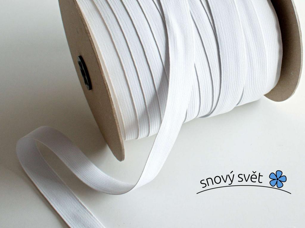 Pruženka líčková 20 mm bílá - VT0050