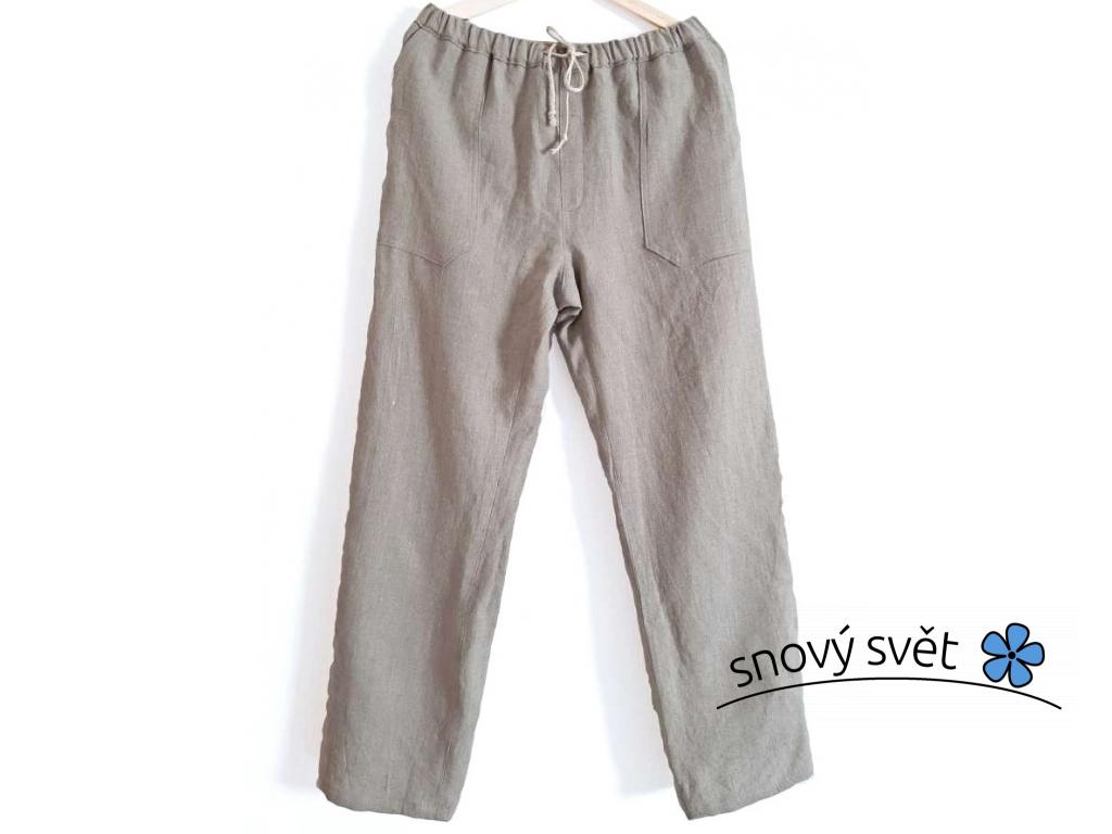 Lněné kalhoty přírodní UNI - SS0262_XXL