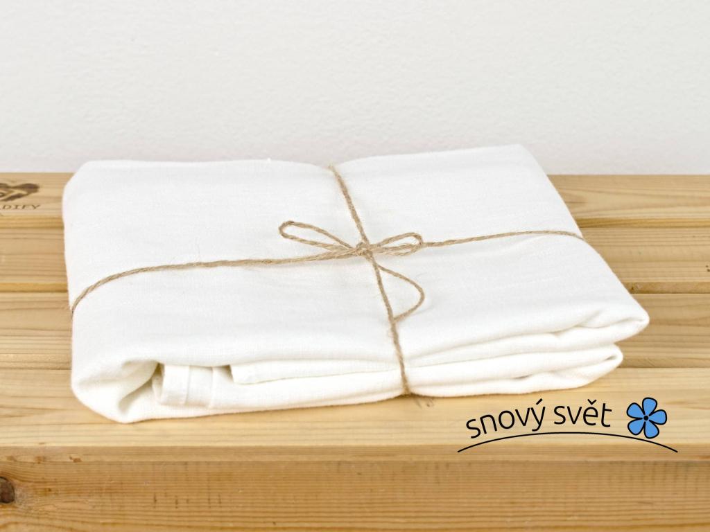 Lněný ručník bílý - SS0045