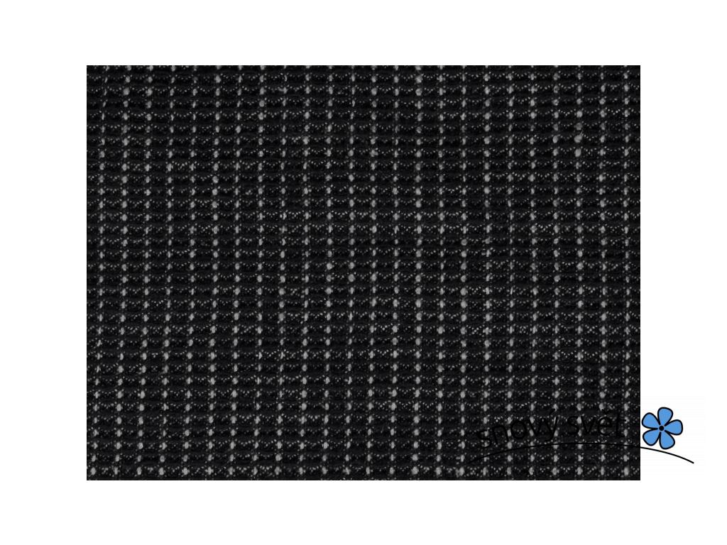 Lněná látka vaflová černá a šedá - 37% len - LIX029