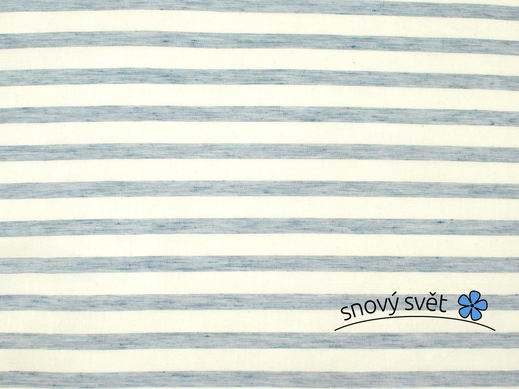 VZOREK - Modré záclonové pruhy - 100% len
