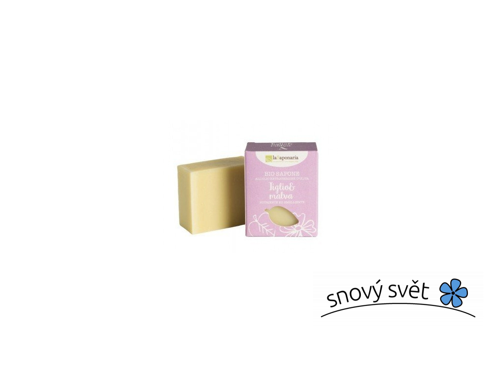 laSaponaria Tuhé olivové mýdlo BIO - Lípa a sléz (100 g) - EN0006