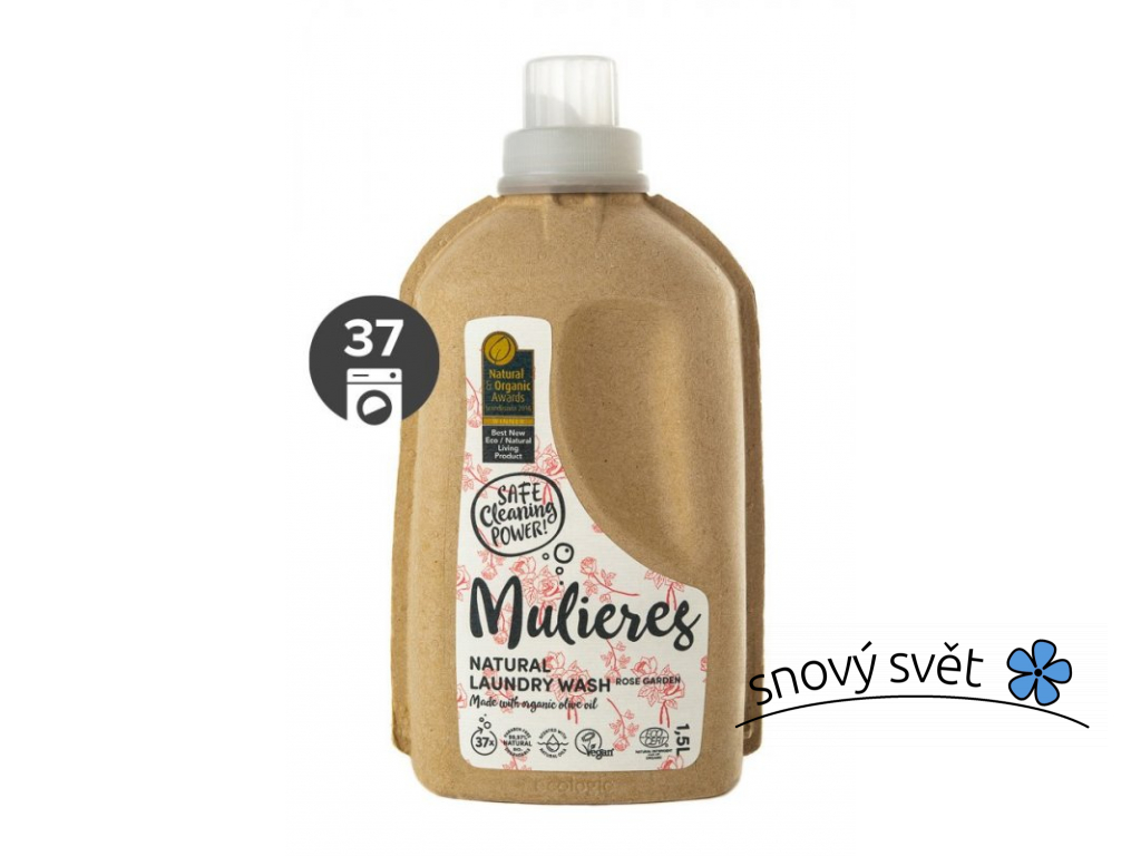 Mulieres Koncentrovaný prací gel BIO (1,5 l) - růžová zahrada - EN0014