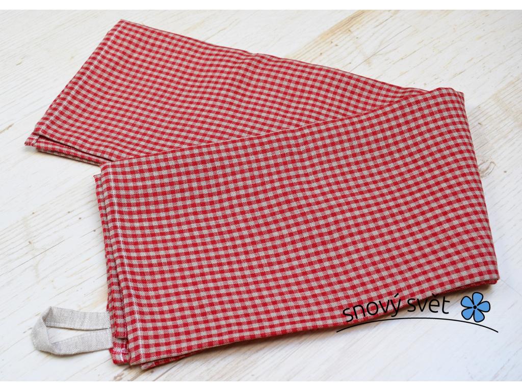 Plátěný ručník Kara červená - SS0056