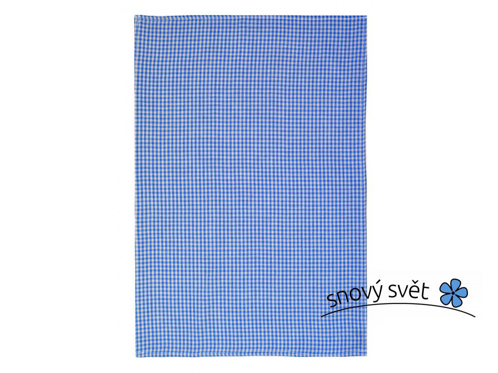 Lněná utěrka Modrá kostka - SS0057