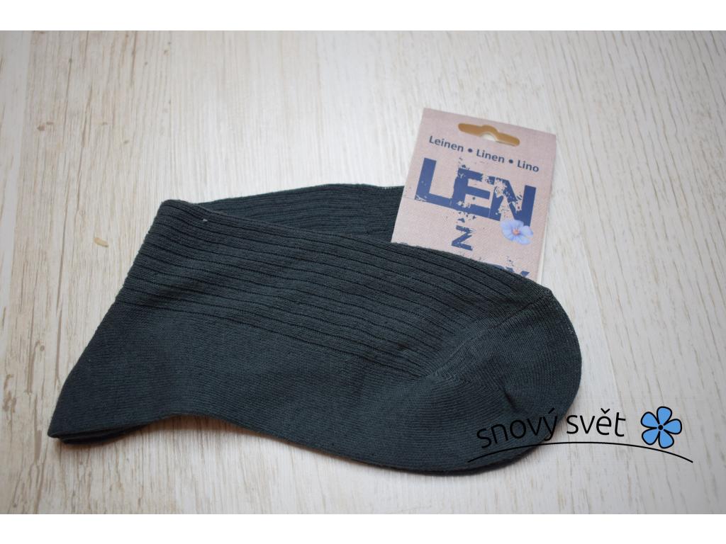Ponožky lněné světle modré - LP0011_03
