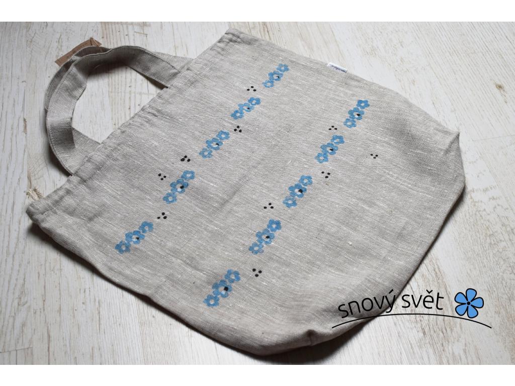 Lněná taška přírodní - SS0043