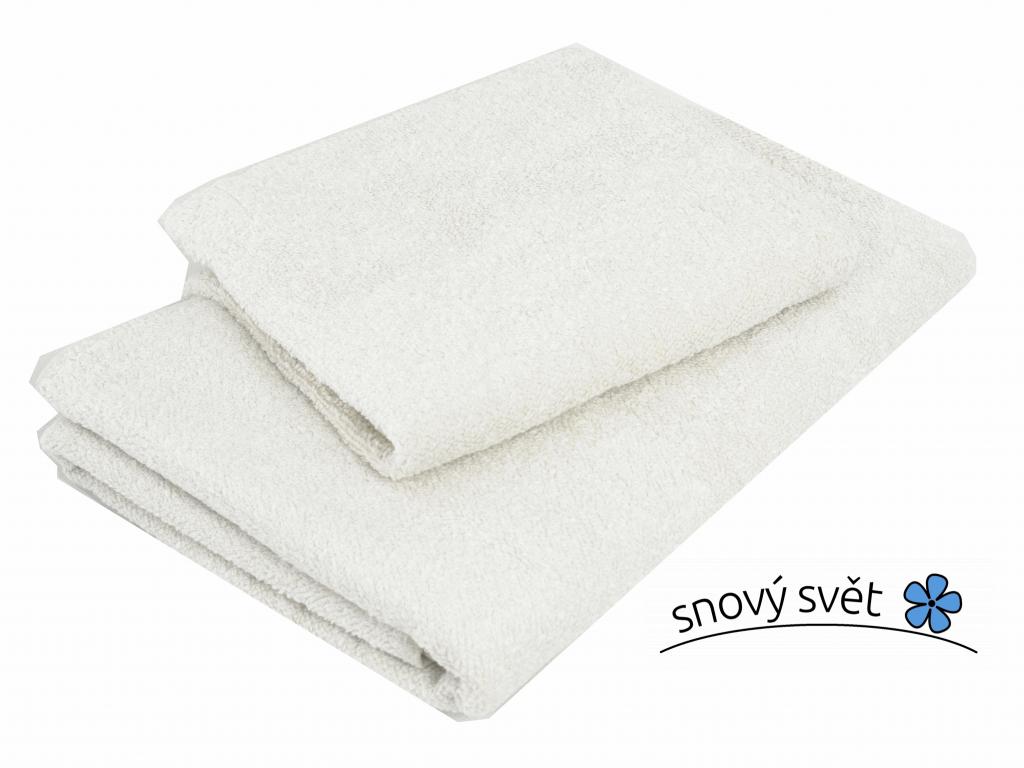 Lněný ručník měkký bílý - LP0028