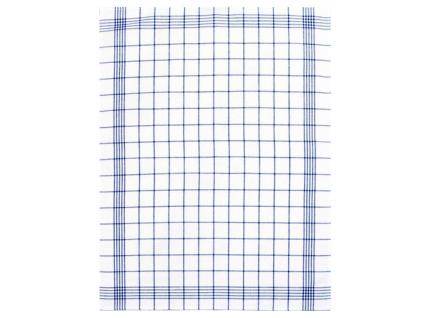 Lněná utěrka modrá klasika - FL0007