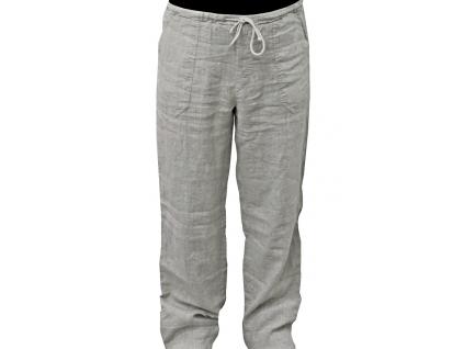 Lněné kalhoty přírodní melír UNI - 245 g/m2 - BL0096_XXL