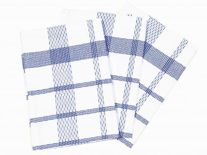 Lněná urěrka s modrým šrafováním - 3 kusy - FLS001