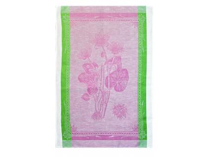 Lněná utěrka - Botanika růžová - BL0104