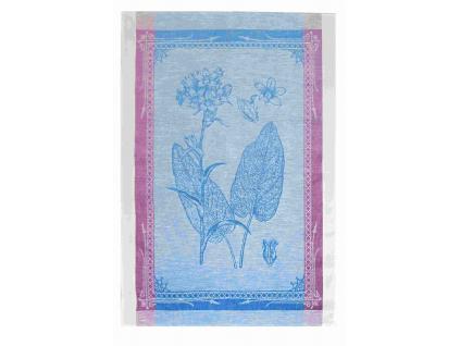 Lněná utěrka - Botanika modrá - BL0105