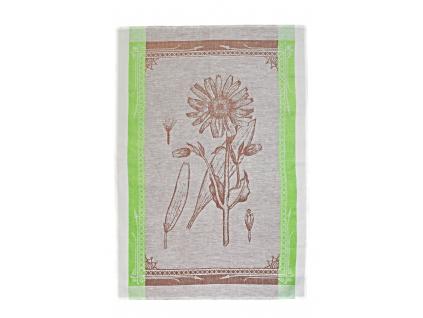Lněná utěrka - Botanika hnědá - BL0106