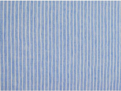 VZOREK - Lněná látka Quintin modrá - LMX019_01
