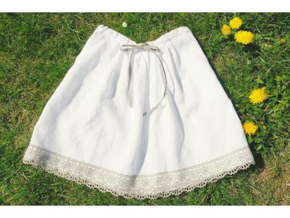Lněná sukně Bianka - SS0128_46