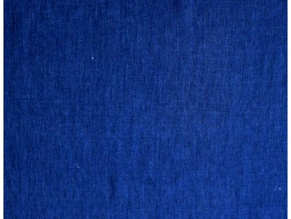 VZOREK - Lněná látka Gertee modrá - LMX023_01