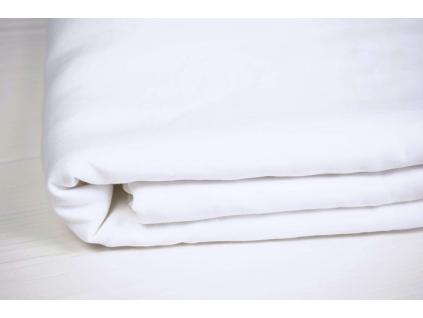 Bílé prostěradlo na dvojlůžko měkčené - 100% LEN - SS0140_SV