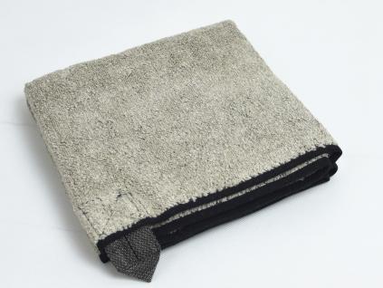 Lněný ručník měkký Black - LP0061_01