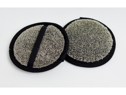 Lněná žínka masážní black průměr 15 cm - LP0063