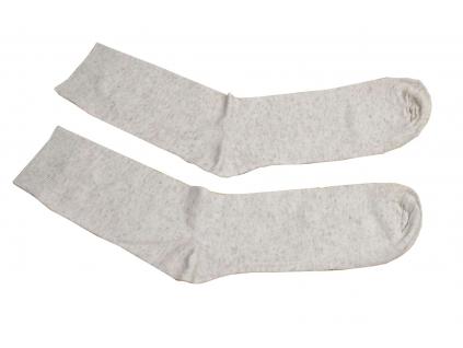 Ponožky lněné hladké natural - LP0021_03