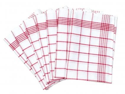 Lněná utěrka červená klasika - 7 kusů - FLS005