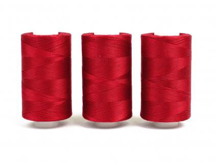 Bavlněná nit červená (3995) 1000 yards - AP0017