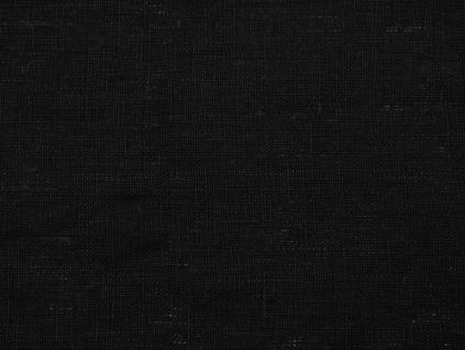 Lněná látka měkčená černá - CNX025