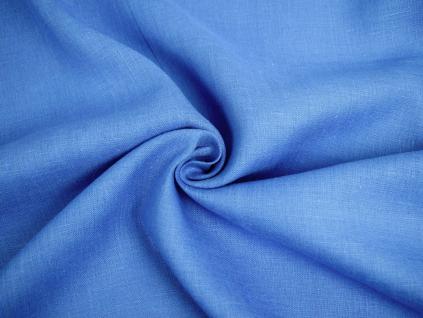 Lněná látka královská modrá měkčená
