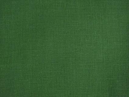 Lněná látka zelená brčál měkčená