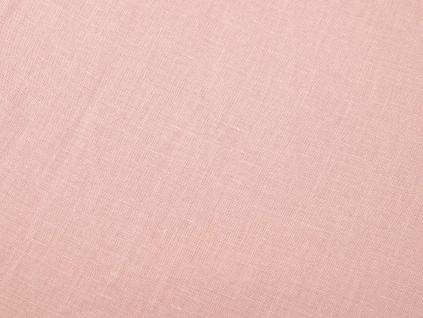 VZOREK - Lněná látka jemně růžová, měkčená - LIX004_01