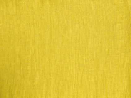 VZOREK - Lněná látka citrónová měkčená - LIX005_01