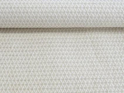 Lněná látka vaflová světle šedá 25% len - LIX009