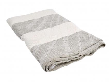 Lněný ručník velký Vítr tmavý