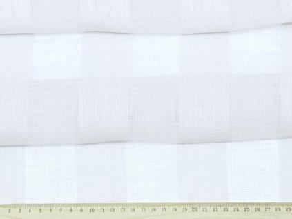 Bílé záclonové pruhy - 100% len - BLX043
