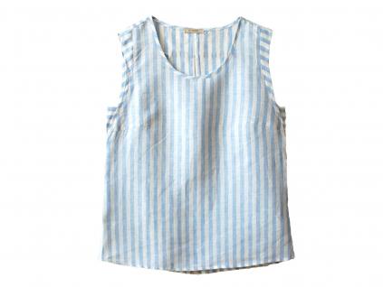 Lněná halenka Marie - modrá - BL0139_48
