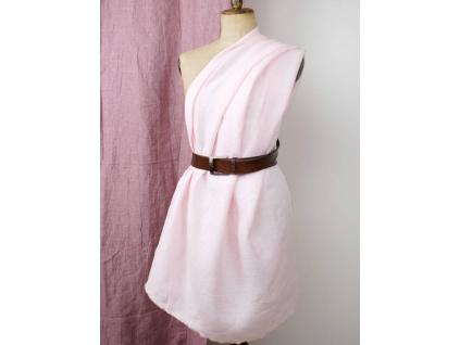 Lněná látka světle růžová - BLX046