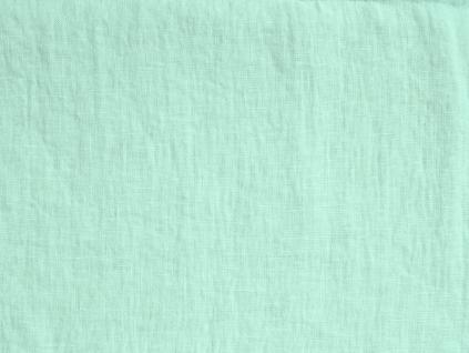 Lněná látka zelená mint měkčená