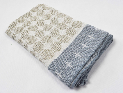 Lněný ručník Bliki modré - BL0141