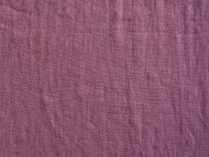 Lněná látka purpurová měkčená 245g/m2 - CNX026