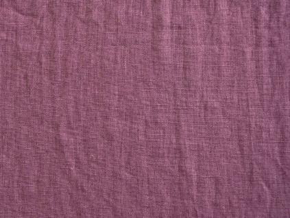 VZOREK - Lněná látka purpurová měkčená - CNX026_01