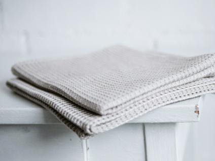 Lněný ručník vaflový melír - 50% len